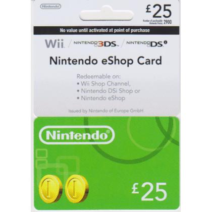 Nintendo eShop Card  £25  Nintendo eShop