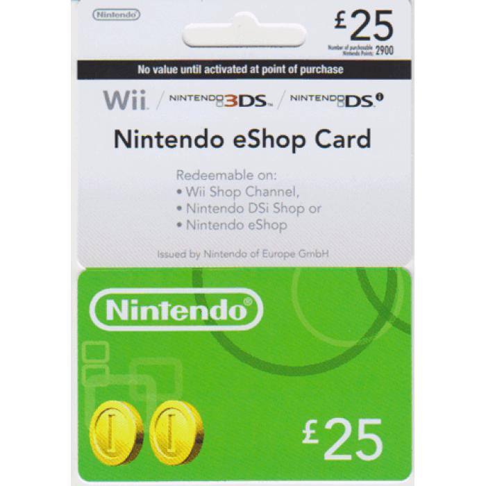 Nintendo eShop Card  £25