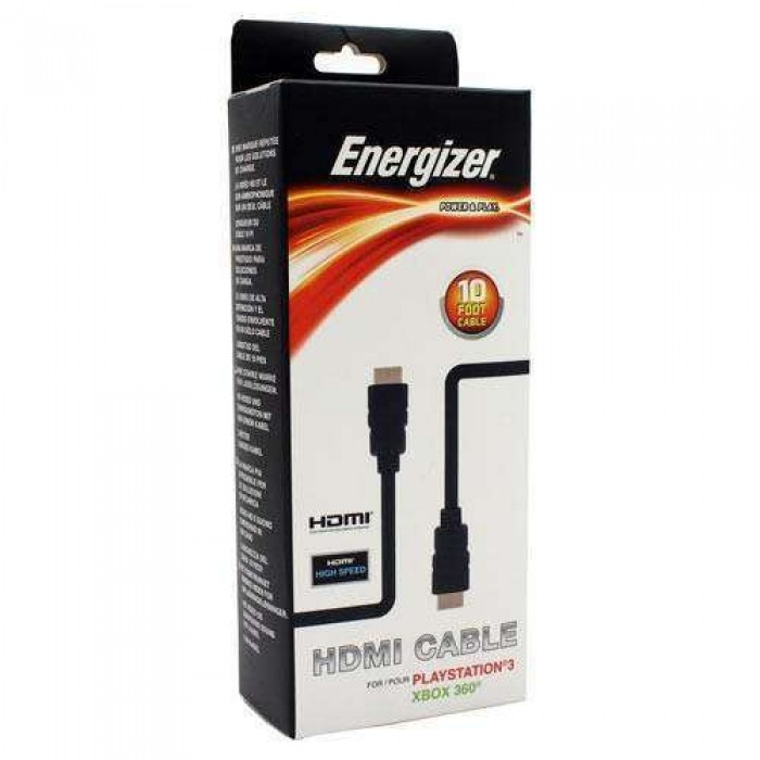 Energizer 3 Meter Hdmi Cable for PS4 and Xbox One