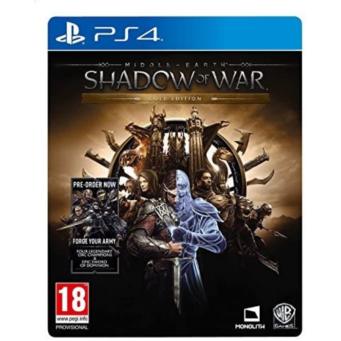 Middle Earth Shadow of War Gold Edition PS4 Limited Steelcase Edition
