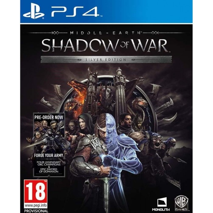 Middle Earth Shadow of War Silver Edition PS4 Steelbook