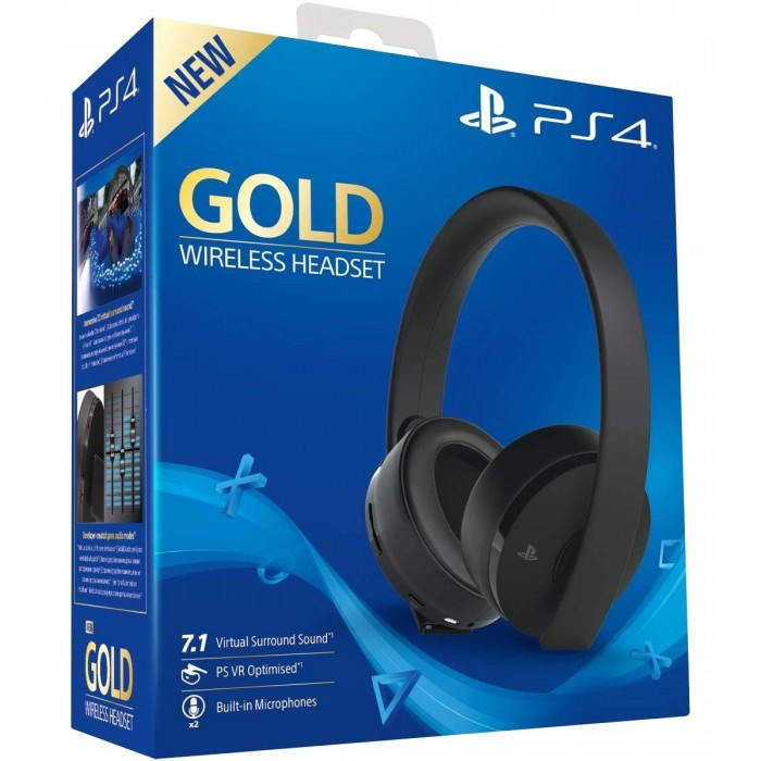 Gold Wireless Headset - PlayStation 4