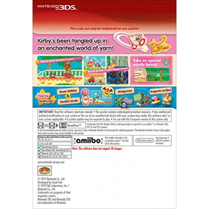 Kirby s Extra Epic Yarn (Nintendo 3DS)