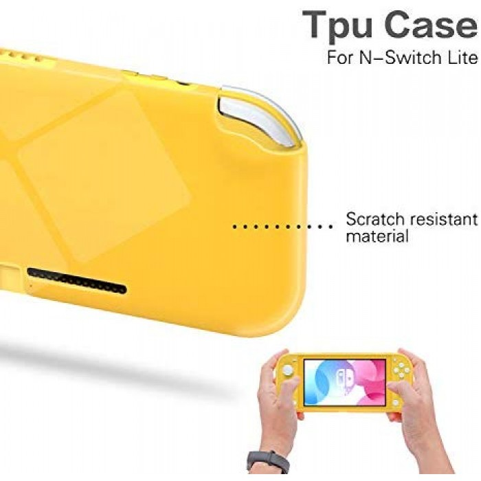 TPU Case for Nintendo Switch Lite, Clear Protective Case for Nintendo Switch Lite with Tempered Glass Screen Protector - Clear