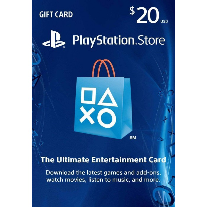 $20 US Store Playstation Network Card - PSN
