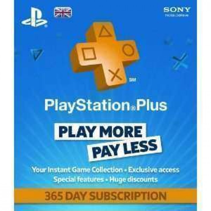 PlayStation Plus Card 1 Year Subscription - UK Store - PSN