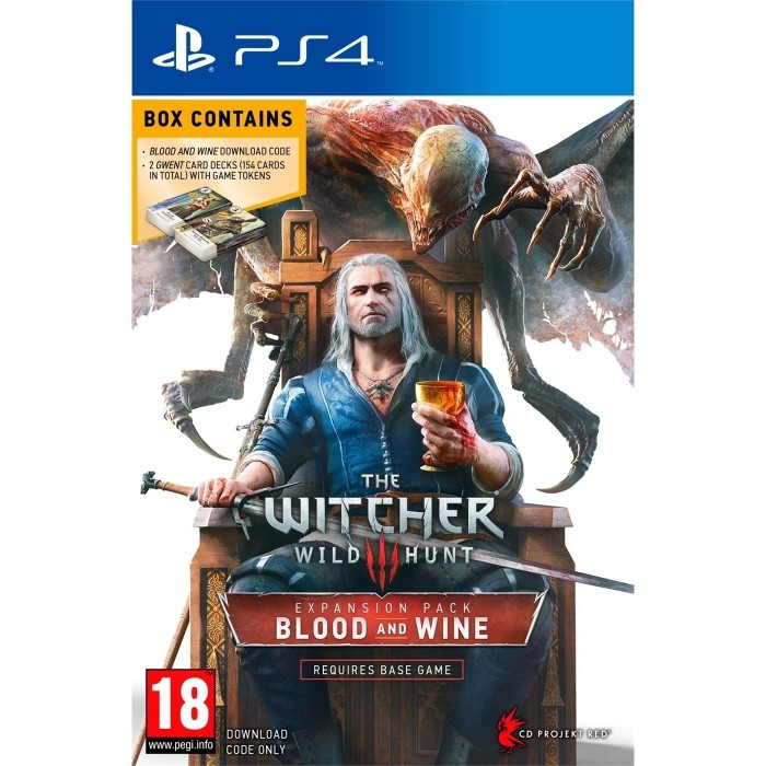 The Witcher 3: Wild Hunt Blood and Wine EXPANSION Pack & 2 GWENT CARDS (DOWNLOAD) PS4