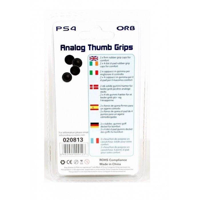 ORB Controller Thumb Grips 4-Pack (PS4)
